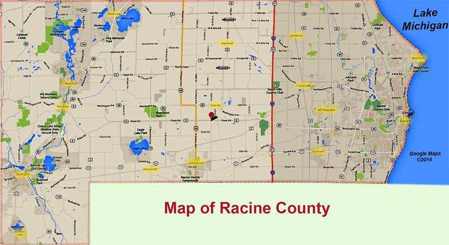 Pest Control Racine County Solutions Now: Map Of Racine County At Slyspyder.com