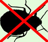 Exterminating Bed Bug Silhouette